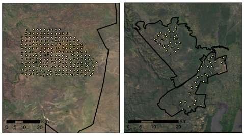 Comparison of Serengeti (left) and Phinda/Mkhuze (right).